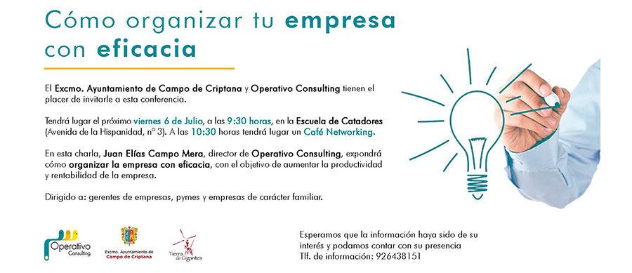 Escuela de Catadores acoge la conferencia «Cómo organizar tu empresa con eficacia»