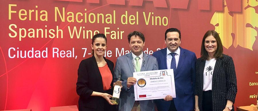 """Símbolo Verdejo, Medalla de Oro en el Concurso Nacional de Vinos """"España Selección"""""""
